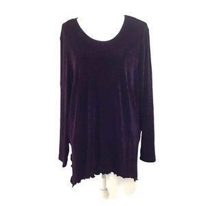 K Woman Purple Long Sleeve Top Size 20W